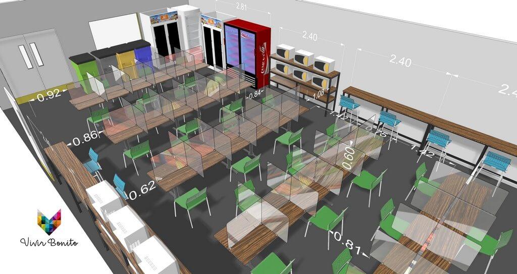 Planos de Comedor Industrial, Diseño industrial de muebles